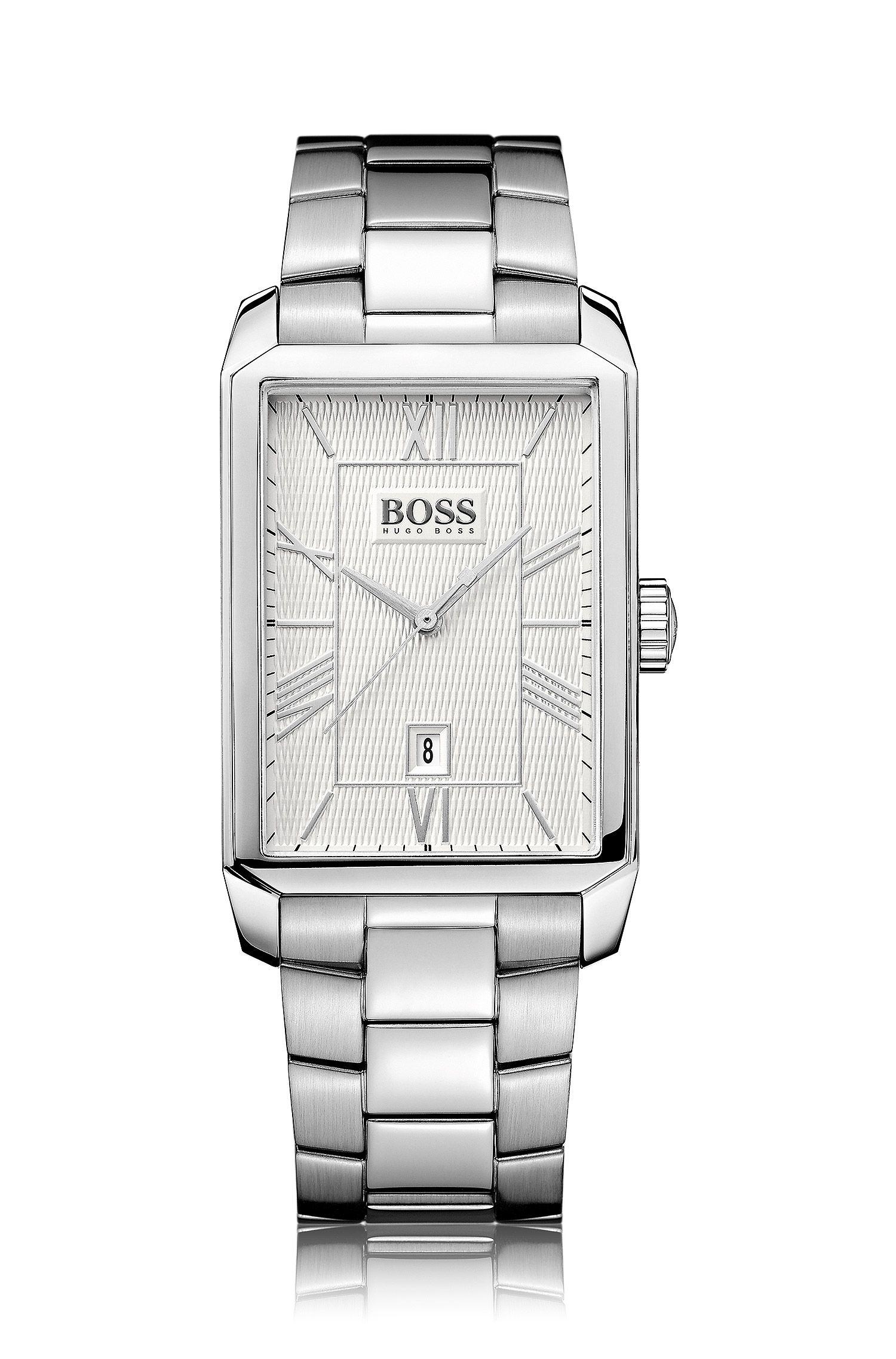 Armbanduhr ´HB6023` aus glänzendem Edelstahl