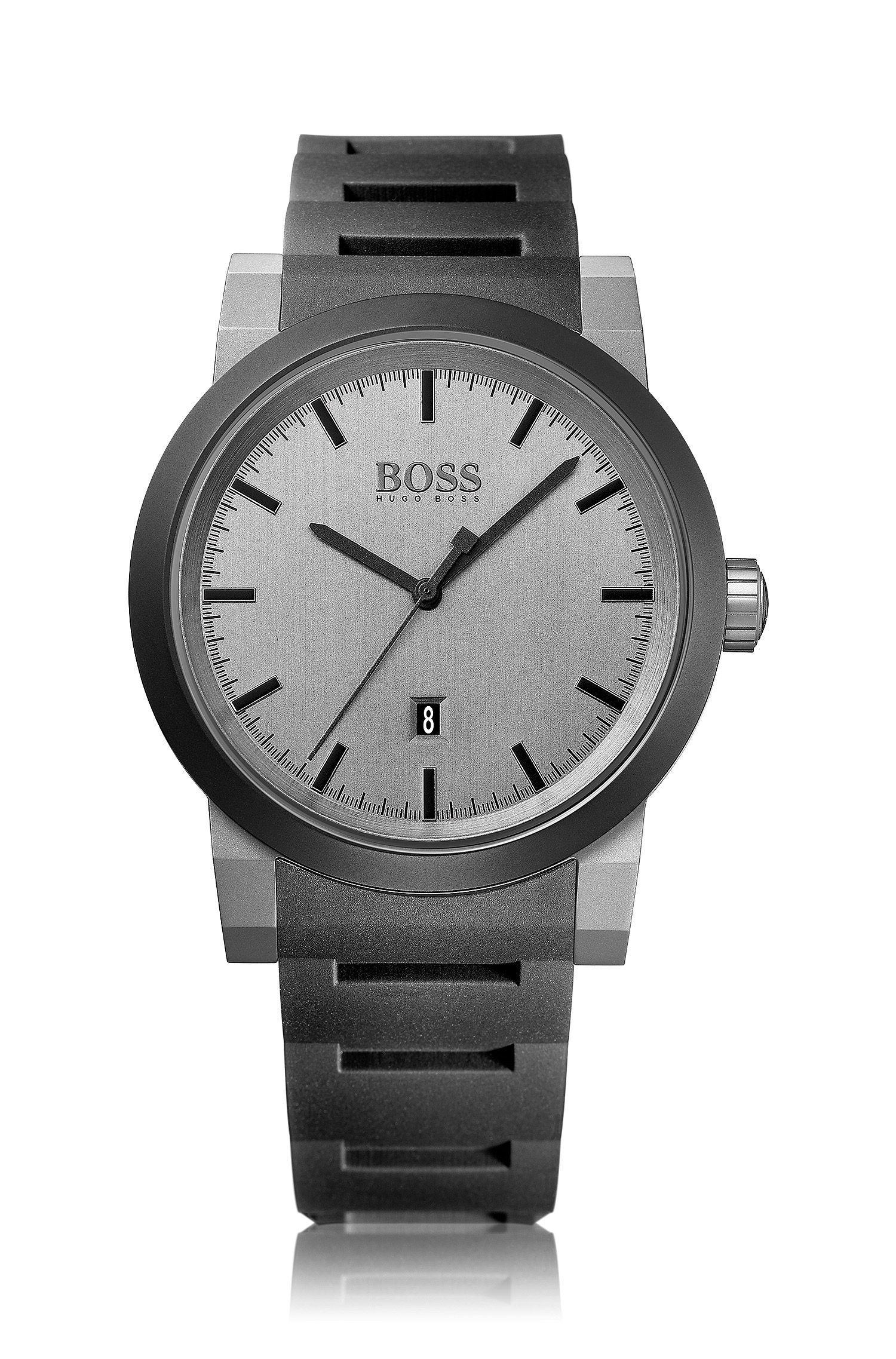 Montre-bracelet «HB6025» avec boîtier en acier inoxydable