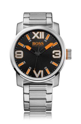 Montre-bracelet «HO7004» en acier inoxydable noir, Assorted-Pre-Pack