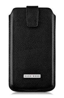 Universal Case ´Barcelona XXL` aus Leder, Schwarz