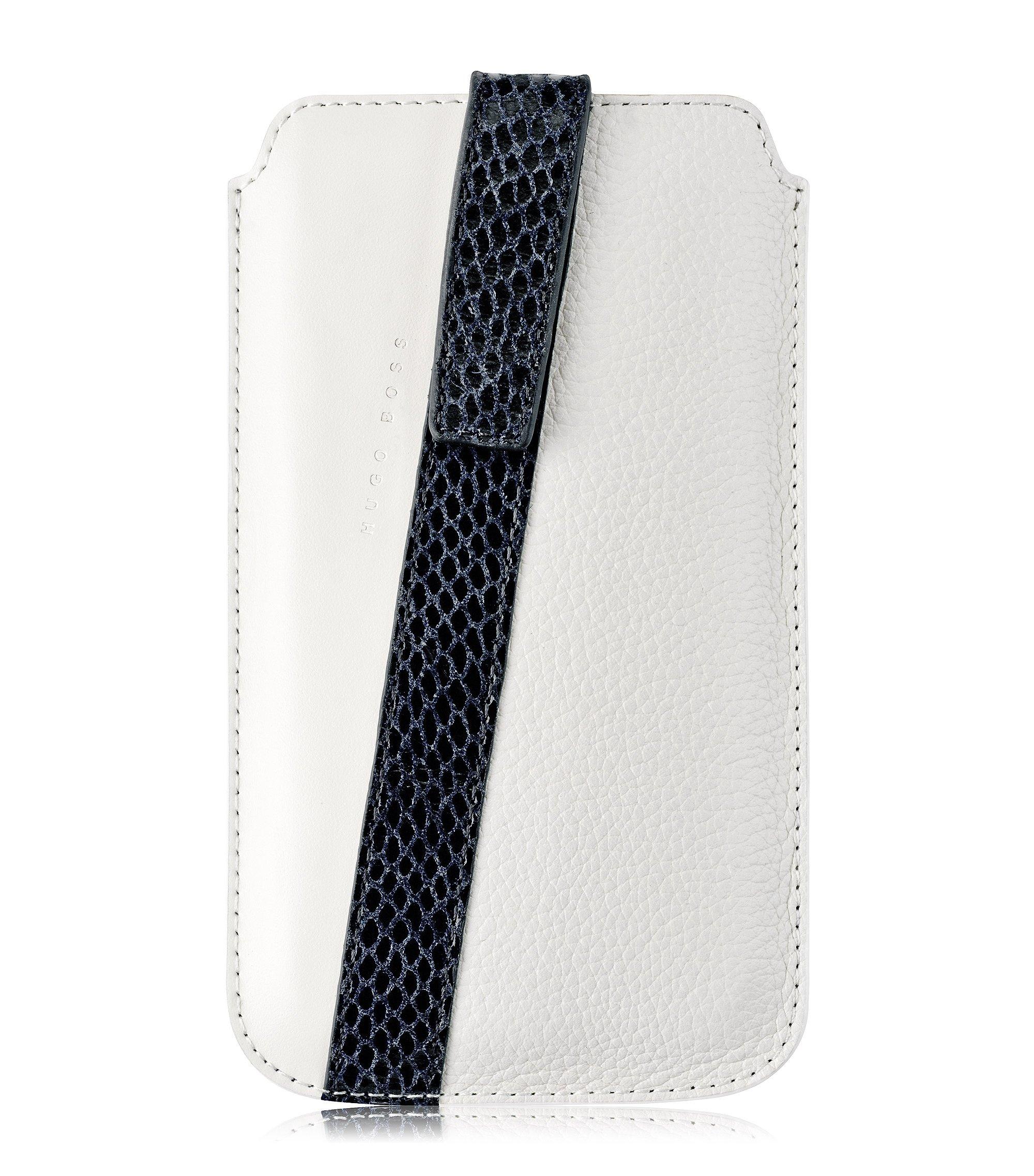 Coque universelle «Mondaine XL» en cuir, Blanc