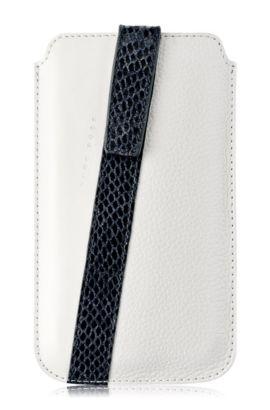 Universal case 'Mondaine XL' van leer, Wit