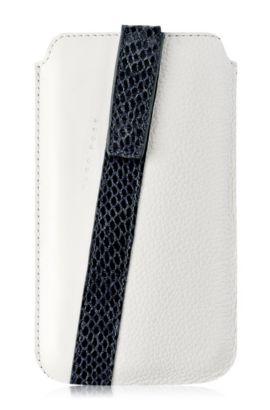 Universal Case ´Mondaine M` aus Leder, Weiß