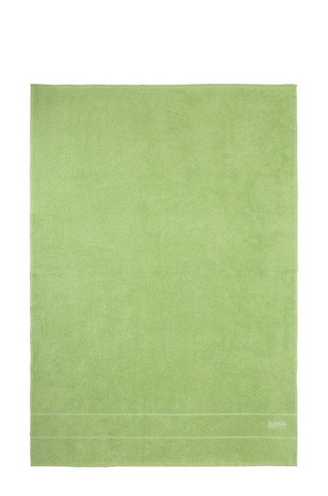 Serviette de bain en coton égyptien des plus raffinés avec bordure logo, Vert