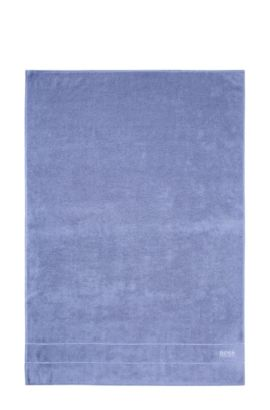 Beach towel 'PLAIN' with a logo in contrasting colour, Blue