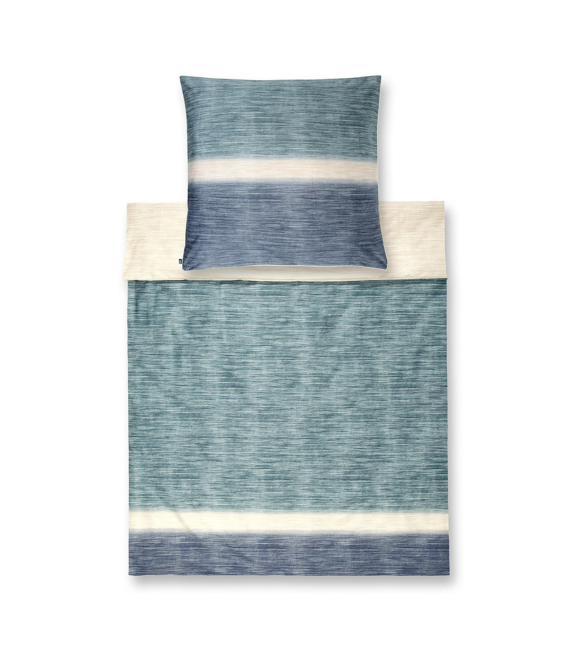 Bettdeckenbezug ´SWELL` aus Baumwollsatin, Blau