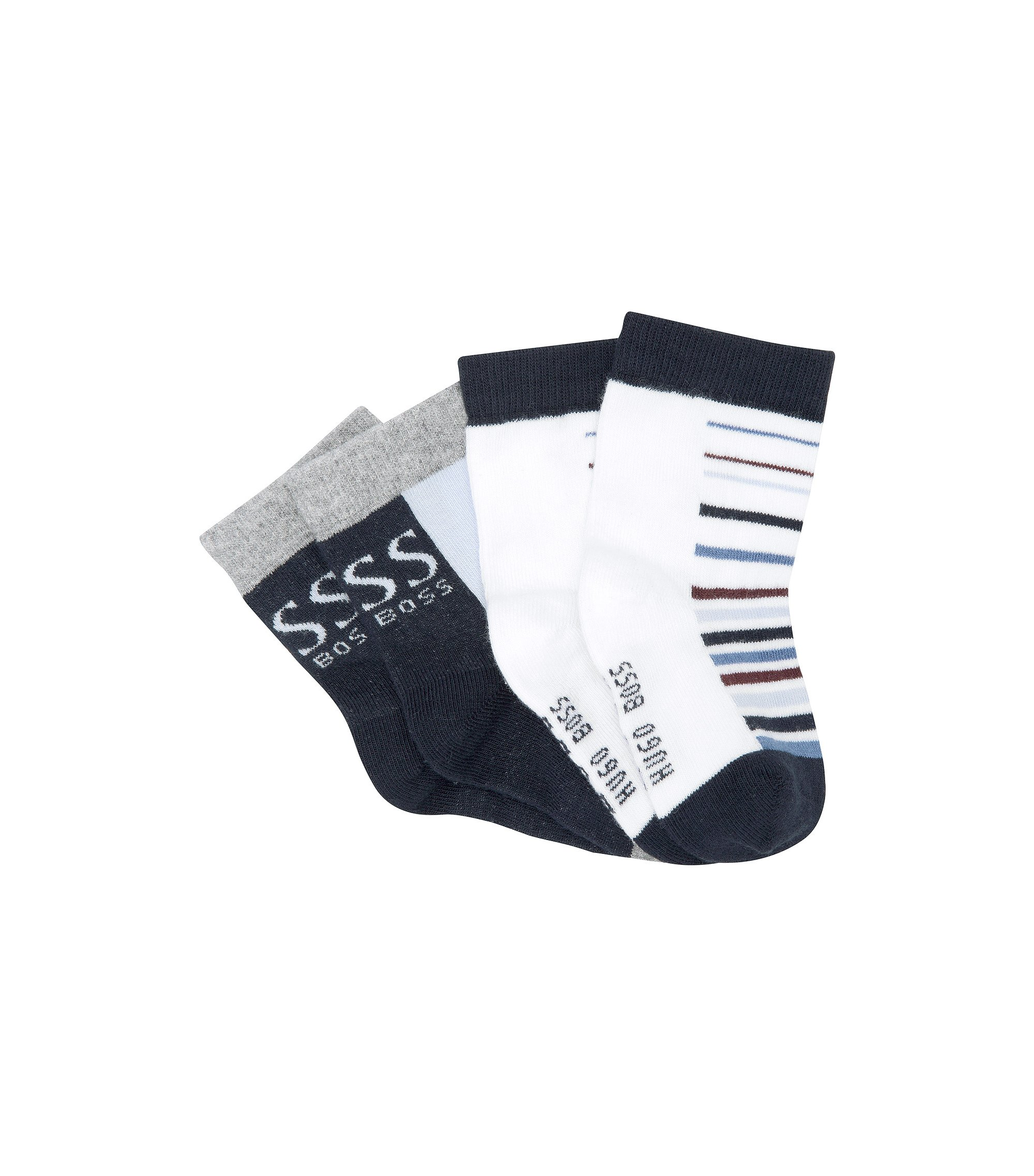 2er-Pack Kids-Socken ´J00050/862` aus Baumwoll-Mix, Dunkelblau