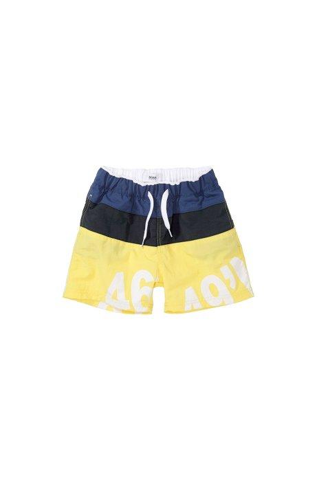 Kids' swim shorts 'J041367/541', quick-drying, Yellow