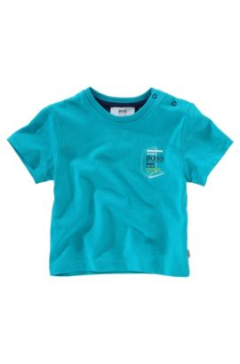T-shirt «J05213» à col rond, Turquoise