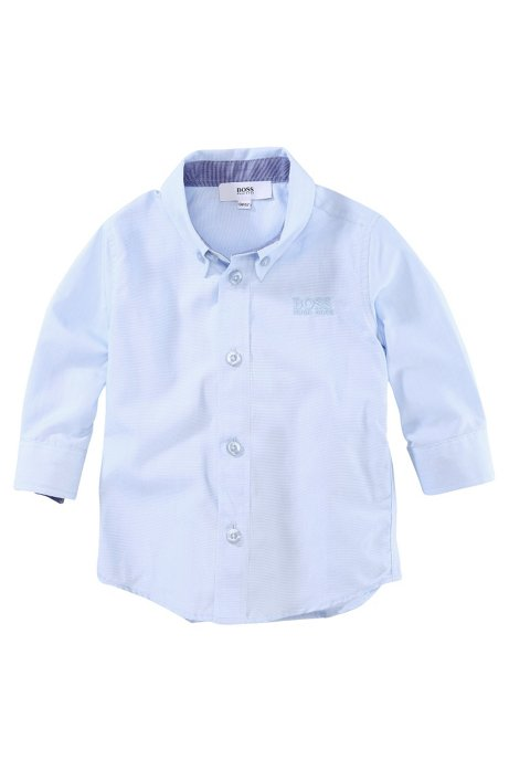 Kids' shirt 'J05241/775' with a button-down collar, Light Blue