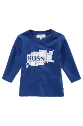 Kids Longsleeve ´J05249/829` aus Baumwolle, Blau