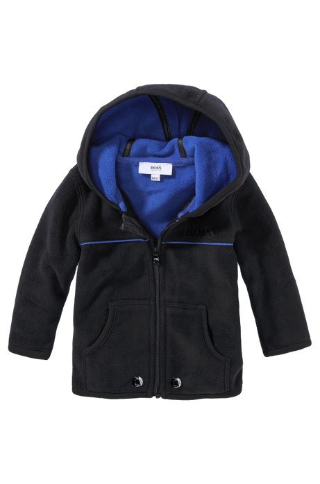 Kids' fleece jacket 'J05253/09B' in synthetic fibre, Black