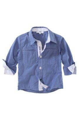 Kids-Hemd ´J05255/829` mit Kentkragen, Blau