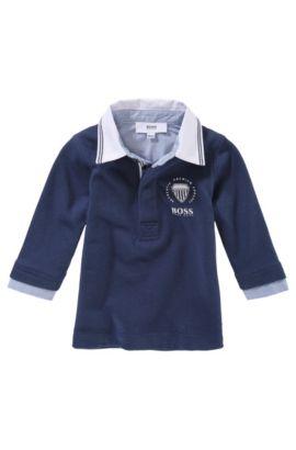 Polo pour enfant à manches longues «J05258/828» en coton, Bleu foncé