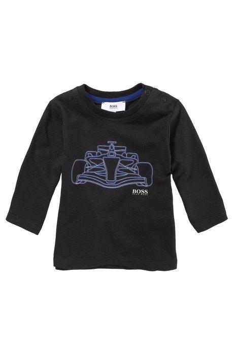 Kids' long-sleeve top 'J05266/09B' in cotton blend, Black