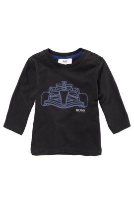 Kindershirt met lange mouwen 'J05266/09B' van een katoenmix, Zwart