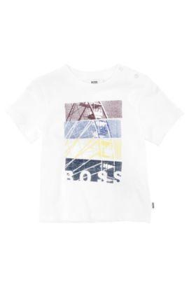 Kids-T-Shirt ´J05279/10B` aus Baumwolle mit Print, Weiß