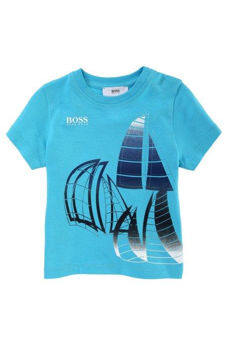 Kids' cotton t-shirt 'J05281/753', Turquoise