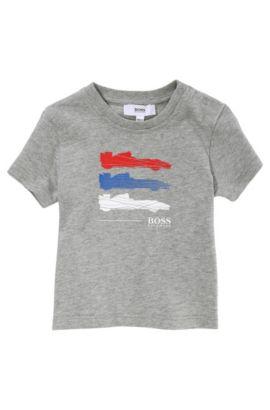 Kinder-T-shirt 'J05303/A30' van katoen, Grijs