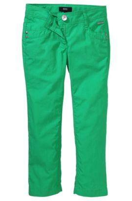 Hose ´J14106` aus reiner Baumwolle, Grün