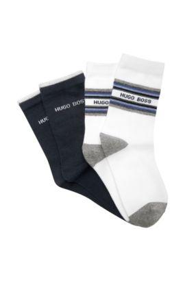 Lot de 2paires de chaussettes pour enfants «J20135/862» en coton mélangé, Bleu foncé