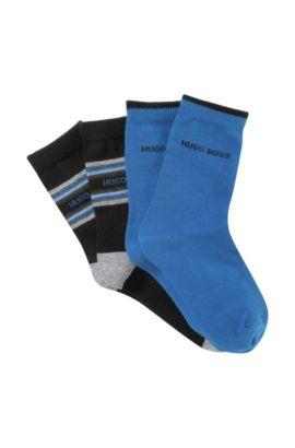 Lot de 2paires de chaussettes pour enfants «J20135/862» en coton mélangé, Bleu