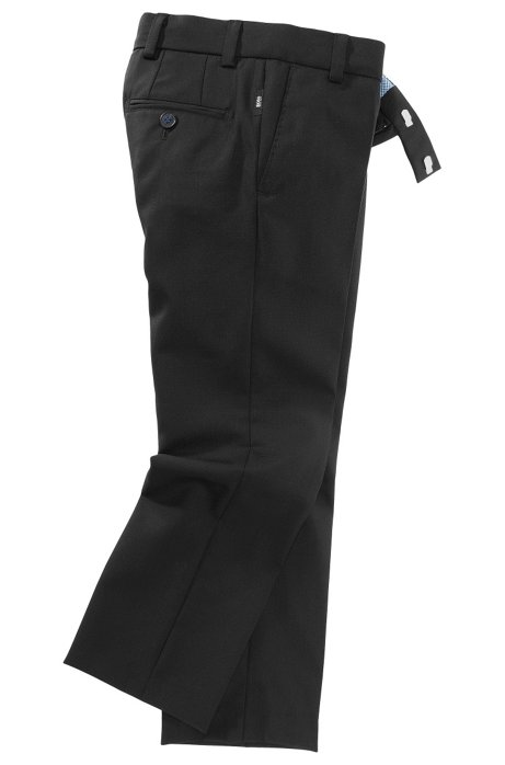 Pure wool trousers 'J24203', Black
