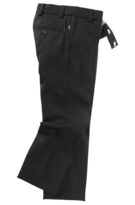 Anzug-Hose ´J24203` aus reiner Wolle, Schwarz