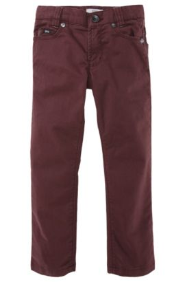 Jeans pour enfant «J24242/958» en coton mélangé, Rouge sombre
