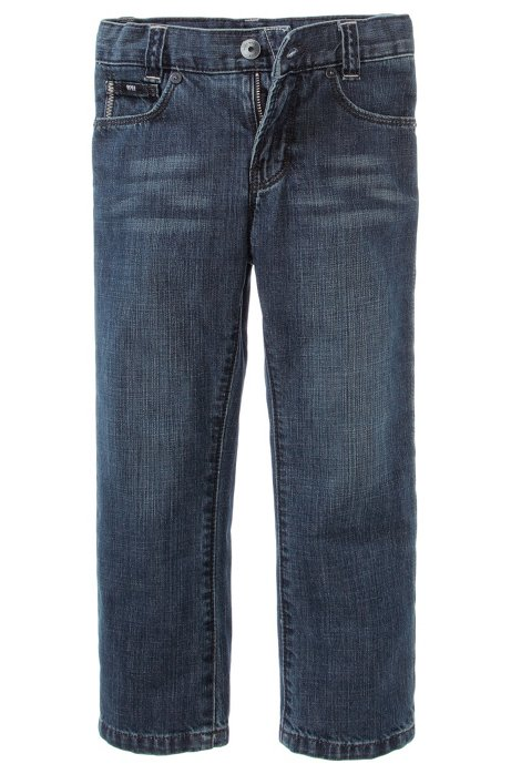 Kids' regular fit cotton jeans 'J24244/Z06', Patterned