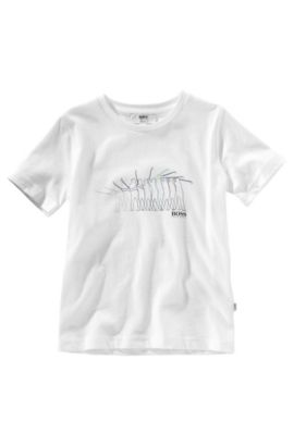 T-Shirt ´J25516` aus reiner Baumwolle, Weiß