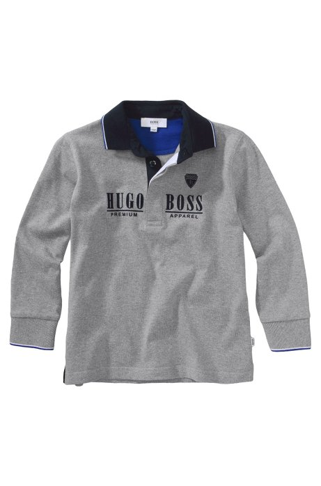 7df7ee1cf70 BOSS - Kids' long-sleeve polo shirt 'J25546/A30' in cotton