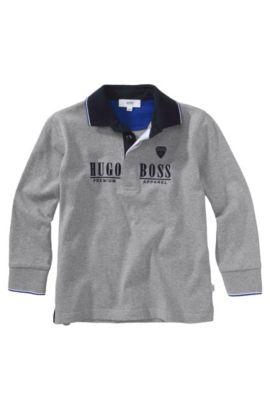 Polo à manches longues pour enfant «J25546/A30» en coton, Gris