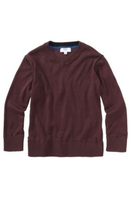 Pull pour enfant «J25549/958» en coton Pima, Rouge sombre
