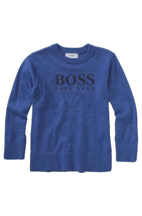 Kids' cotton blend sweater 'J25550/J36', Blue