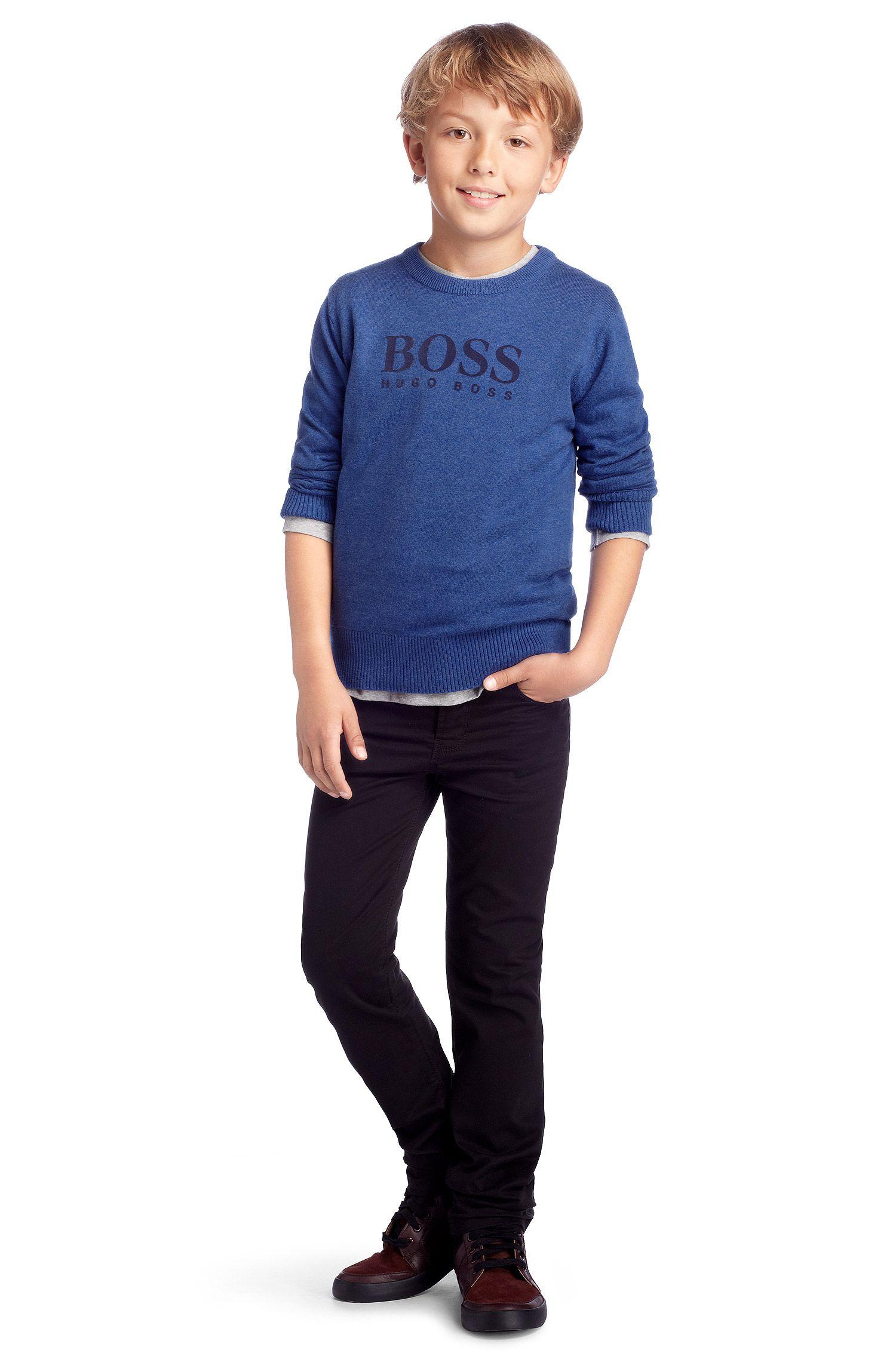 Kids Pullover ´J25550/J36` aus Baumwollkomposition, Blau