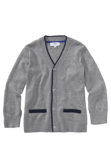Kids' cardigan 'J25551/A30' in cotton blend, Grey