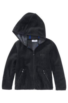 Blouson en polaire à capuche pour enfant «J25560/09B», Noir