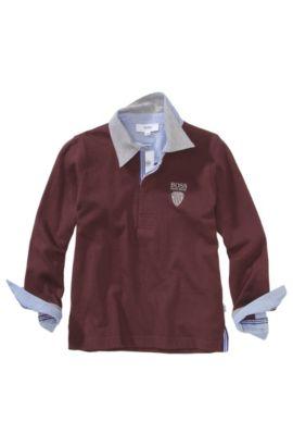 Polo à manches longues pour enfant «J25569/958» en coton, Rouge sombre