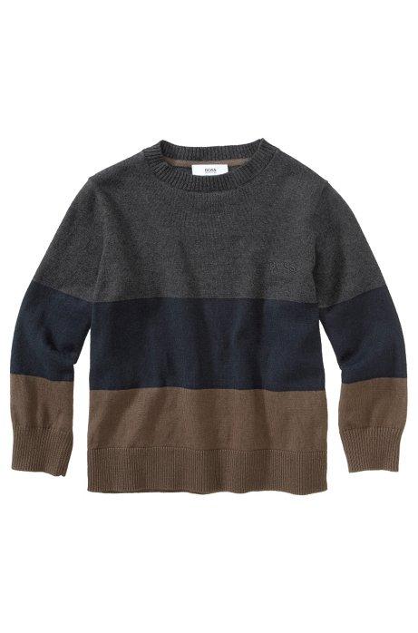 Kids' cotton blend sweater 'J25597/A80', Anthracite