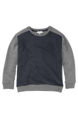 Sweat pour enfant «J25598/862» en coton, Bleu foncé