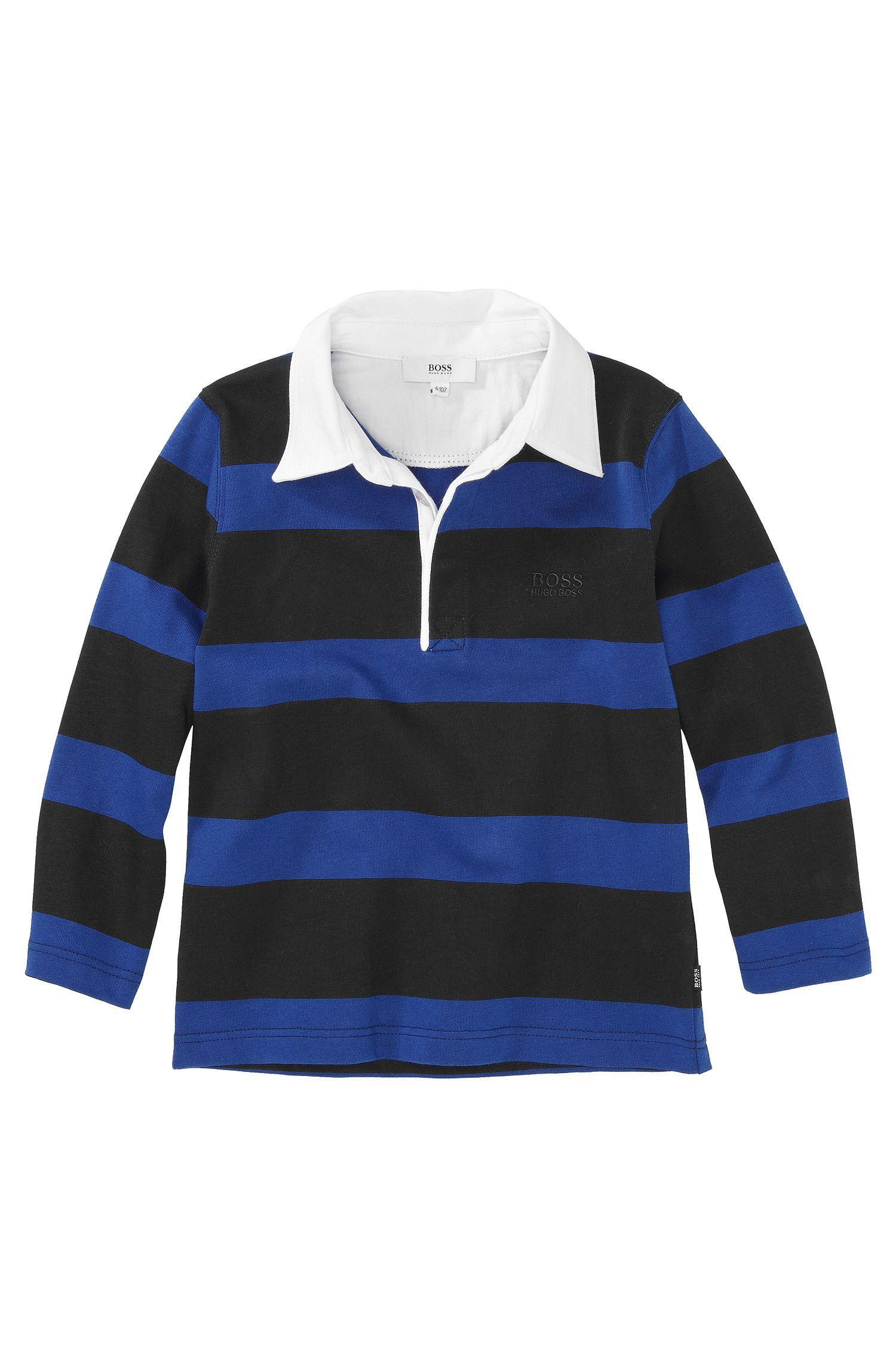 Polo à manches longues pour enfant «J25603/862» en coton
