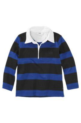 Polo à manches longues pour enfant «J25603/862» en coton, Bleu foncé