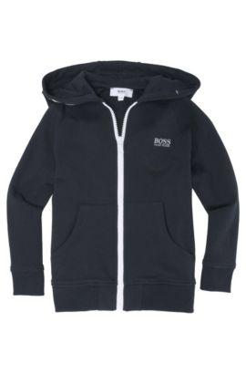 Kids-Sweatshirt-Jacke ´J25653/862`, Baumwoll-Mix, Dunkelblau