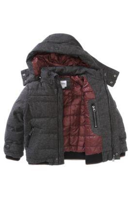 Blouson outdoor à capuche pour enfant «J26171/A80», Anthracite