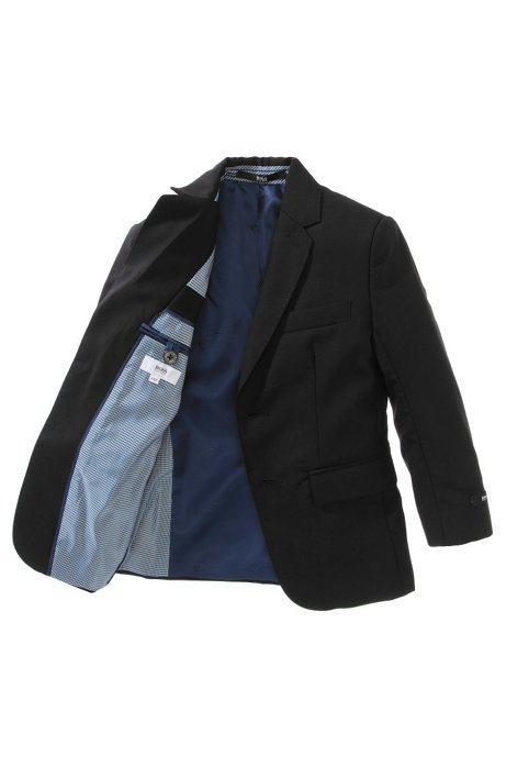 Kids' jacket 'J26M38/09B' in new wool, Black