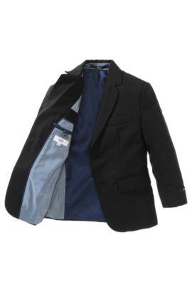 Veste de costume pour enfant «J26M38/09B» en laine vierge, Noir