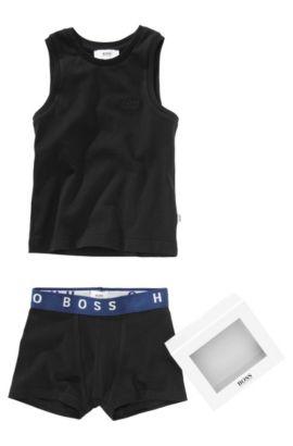 Débardeur et boxer «J28020» en coton, Noir