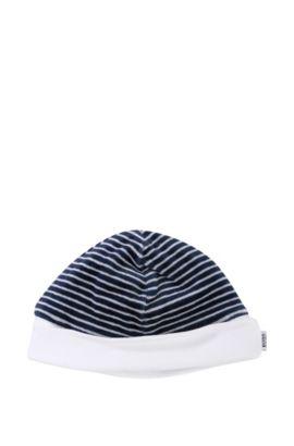 Bonnet réversible pour bébé «J91031» en coton mélangé, Bleu foncé