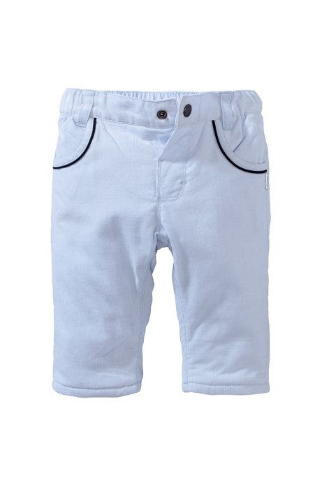 Kids' corduroy trousers 'J94075/775' in cotton, Light Blue